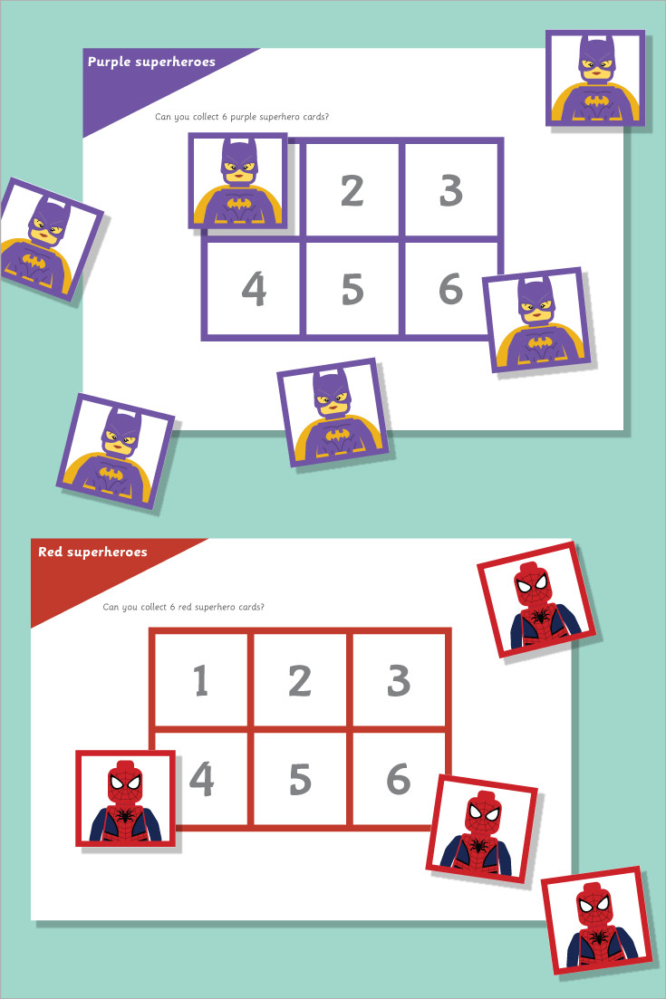 Superhero Maths Game: All About 6