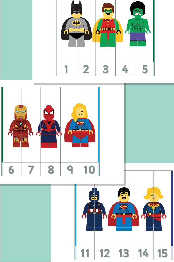Superhero Number Puzzles