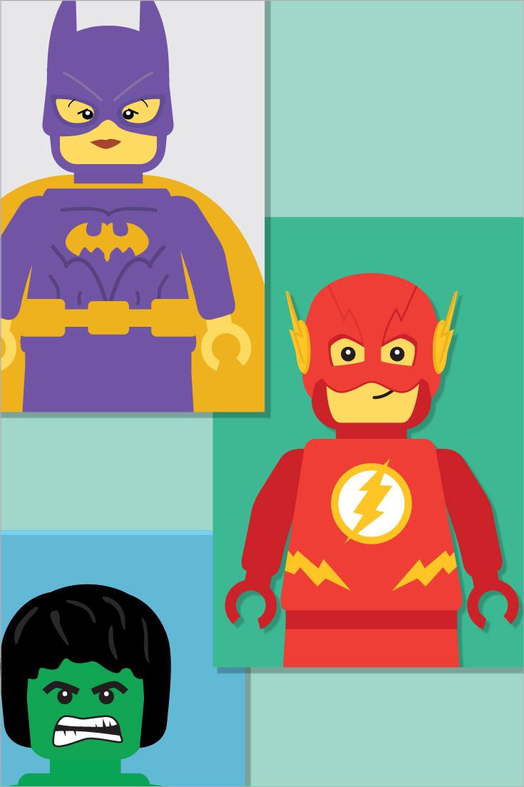 A4 Superhero Prints: Bedroom Decor or Classroom Displays