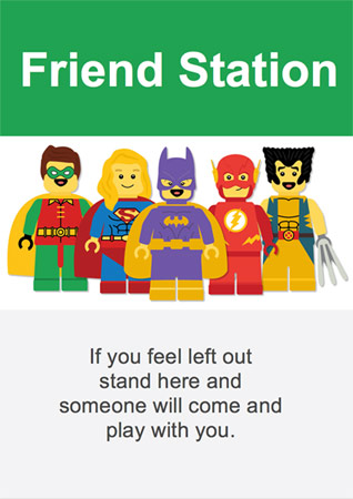 Superhero Themed Friendship Station