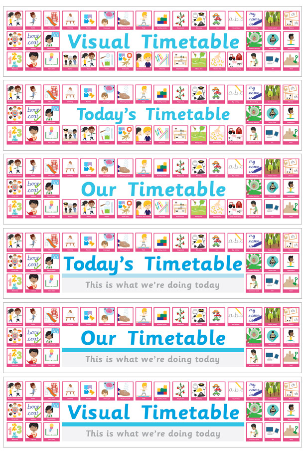 Visual Timetable Large Banner