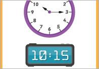 Visual Timetable Display with Clocks (Editable)