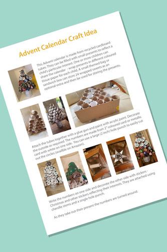 Advent Calendar Craft Idea