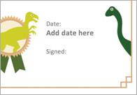Editable Dinosaur Certificate