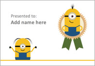 Editable Minion Themed Certificate