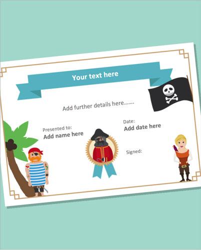 Editable Pirate Certificate