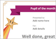 Pupil Of The Week / Month Certificate