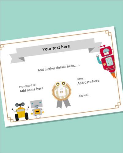 Editable Robot Certificate
