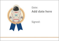 Editable Space Themed Certificate