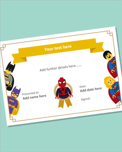 Editable Superhero Certificate