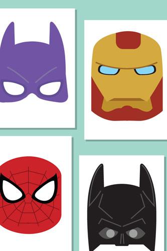 Superhero Role-Play Masks