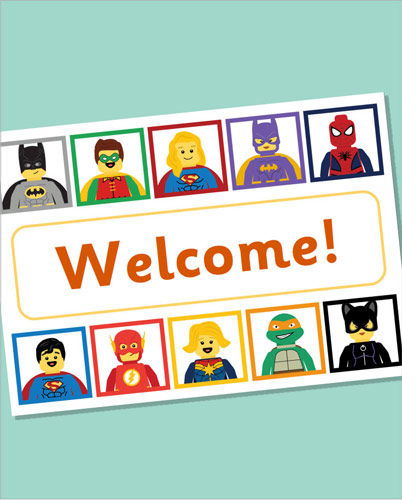Editable Superhero Welcome Poster