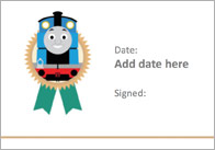 Editable Train Themed Certificate