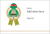 Editable Turtle Themed Certificates
