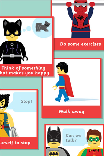 Superhero Anger Management Bee Bot Cards