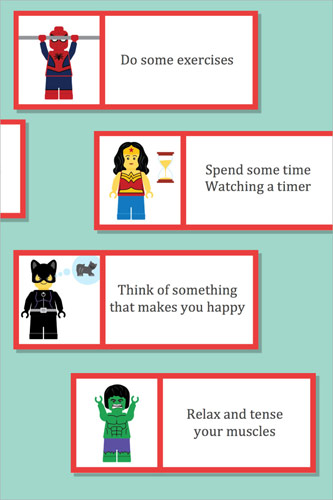 Superhero Anger Management Labels
