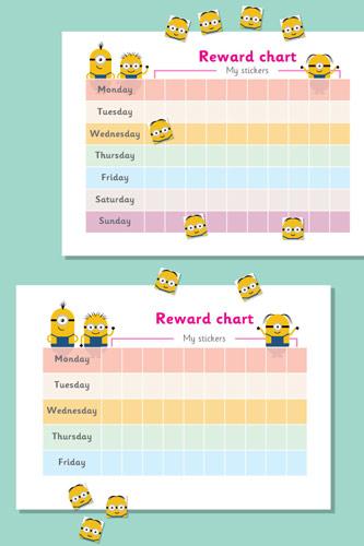 Minion Reward Chart