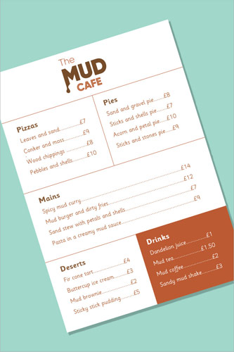 Mud Cafe Menu