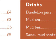 Mud Cafe Menu