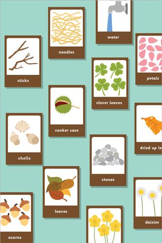 Mud Kitchen Ingredients Playing Cards