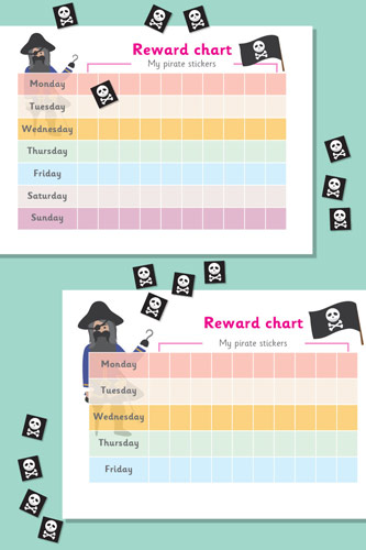 Pirate Reward Chart