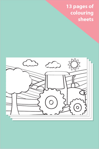 Farm Colouring In Sheets - Mindfulness Resource