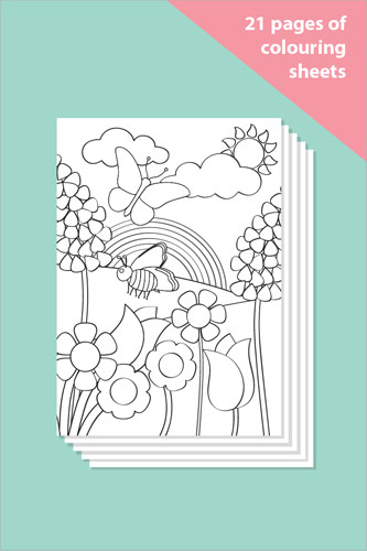 Minibeasts Colouring In Sheets - Mindfulness Resource