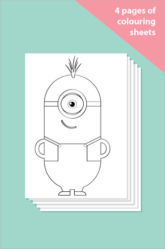 Minion Colouring In Sheets - Mindfulness Resource