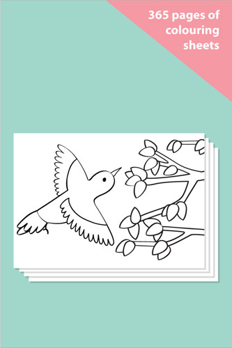Multi-Themed Colouring Sheets Bumper Pack (365 sheets)