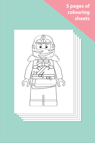 Ninjas Colouring In Sheets - Mindfulness Resource