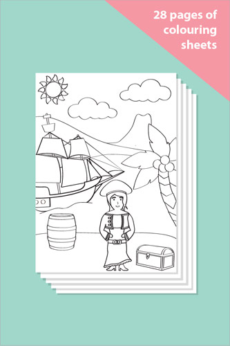 Pirate Colouring In Sheets - Mindfulness Resource