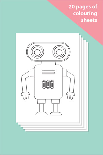 Robot Colouring In Sheets - Mindfulness Resource