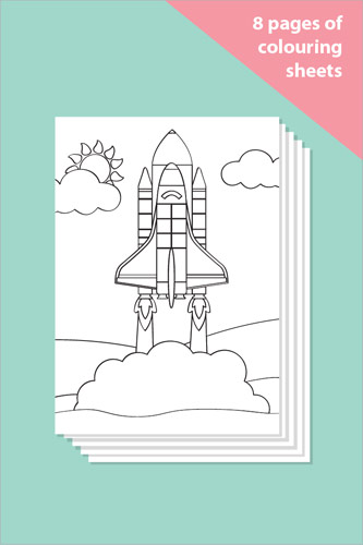 Space Themed Colouring In Sheets - Mindfulness Resource