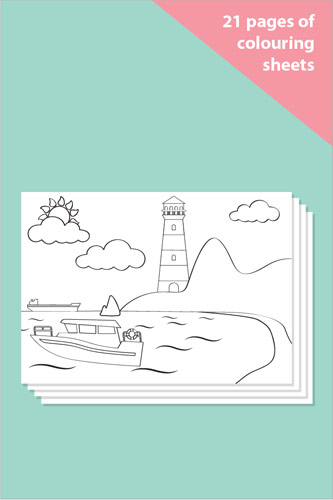 Summer Themed Colouring In Sheets - Mindfulness Resource