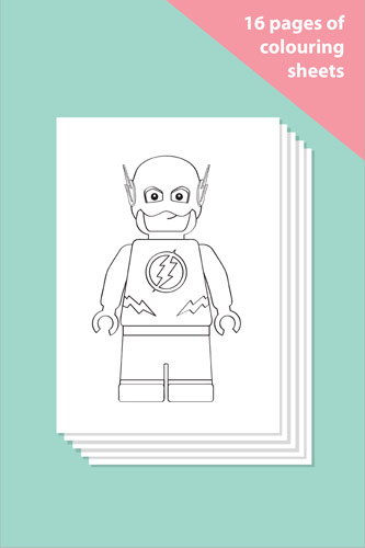 Superhero Colouring In Sheets - Mindfulness Resource