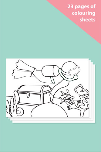 Under the Sea Colouring In Sheets - Mindfulness Resource