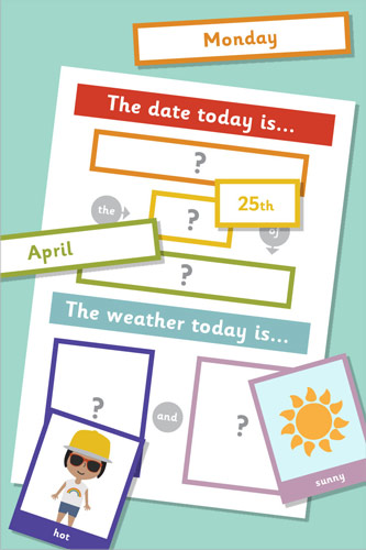 Daily Calendar And Weather Chart
