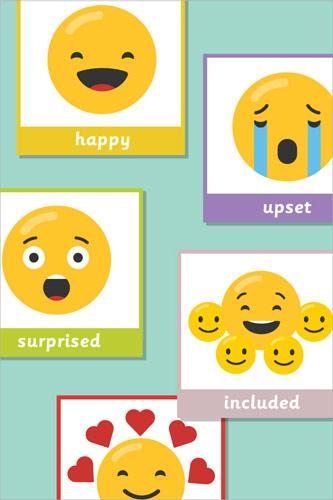 Programmable Robot Emoji Flash Cards