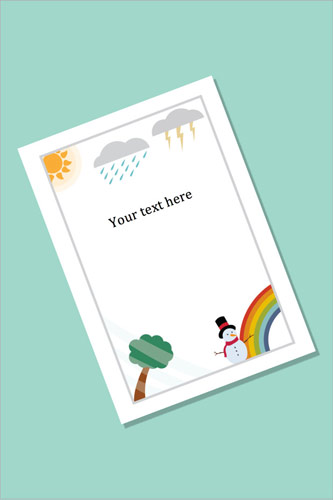 Weather Themed Notepaper