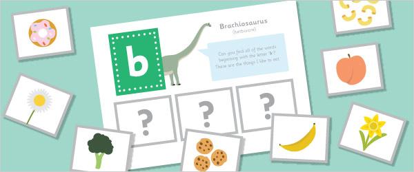 Dinosaur Initial Sounds Phonics Game