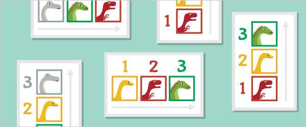 Dinosaur Colour Sequencing Game