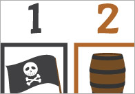 Pirate Colour Sequencing Game