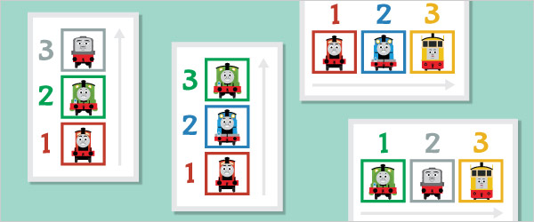 Train Themed Colour Sequencing Game