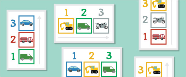 Vehicles Colour Sequencing Game